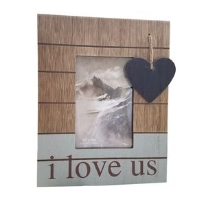 🆕❤i love us Wood Photo Frame